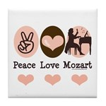 Peace Love Mozart Tile Coaster