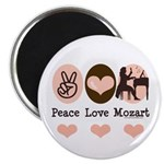 Peace Love Mozart Magnet