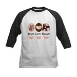 Peace Love Mozart Kids Baseball Jersey
