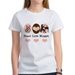 Peace Love Mozart Women's T-Shirt