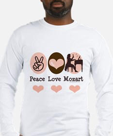 Peace Love Mozart Long Sleeve T-Shirt