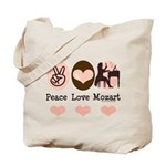 Peace Love Mozart Tote Bag