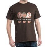 Peace Love Mozart Dark T-Shirt