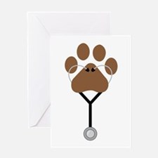 Vet Stethescope Greeting Cards