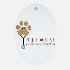 Veterinary Medicine Oval Ornament