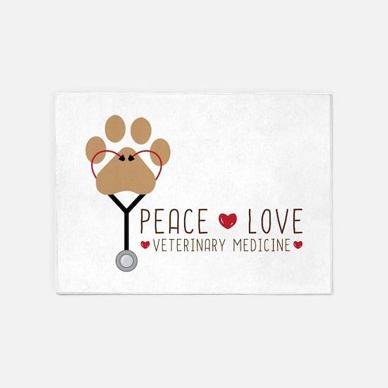 Veterinary Medicine 5'x7'Area Rug