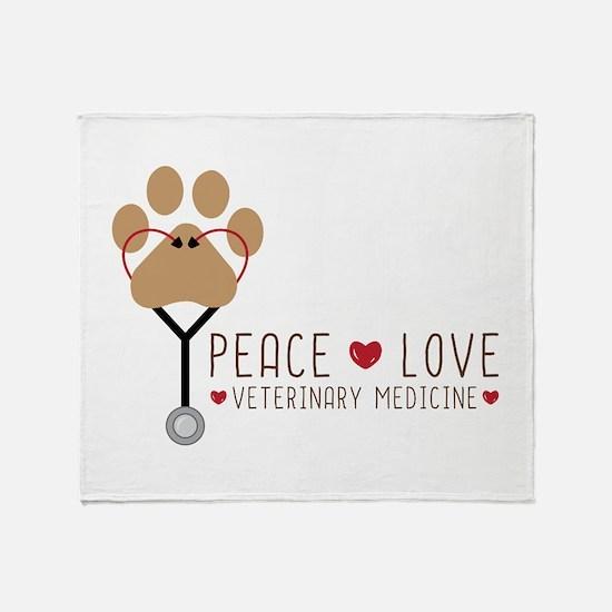 Veterinary Medicine Throw Blanket