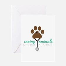 Saving Animals Greeting Cards