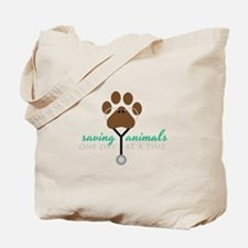 Saving Animals Tote Bag