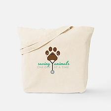 Saving Animals Tote Bag