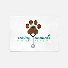 Saving Animals 5'x7'Area Rug