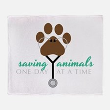 Saving Animals Throw Blanket