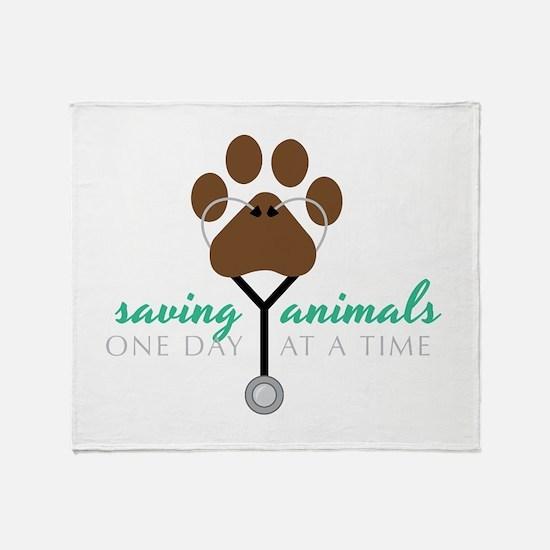Saving Animals Throw Blanket