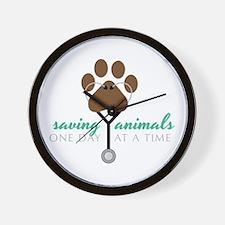 Saving Animals Wall Clock
