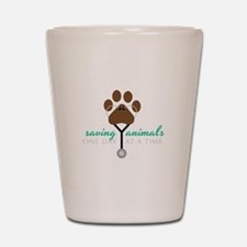 Saving Animals Shot Glass