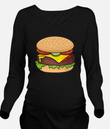 Cheeseburger Long Sleeve Maternity T-Shirt