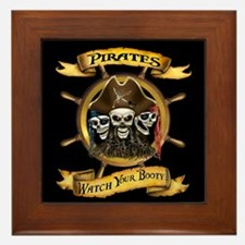 Pirates Watch Your Booty! Framed Tile