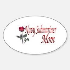 navy submariner mom rose Oval Decal