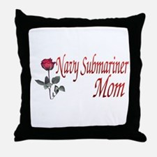 navy submariner mom rose Throw Pillow