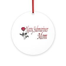 navy submariner mom rose Ornament (Round)