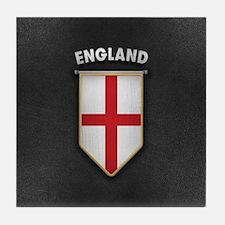 England Pennant with high quality lea Tile Coaster