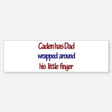 Caden - Dad Wrapped Around F Bumper Bumper Bumper Sticker