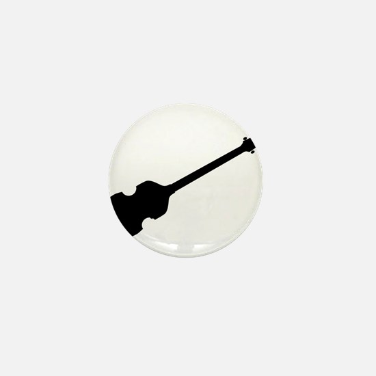 Violin Style Bass Guitar Silhouette Mini Button