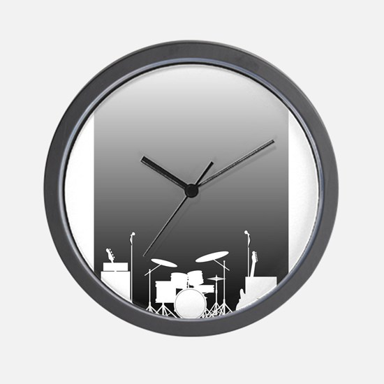 Live Band Poster Wall Clock