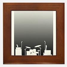 Live Band Poster Framed Tile
