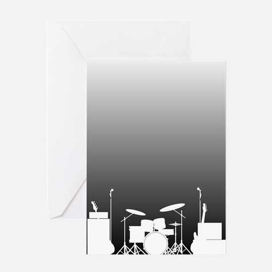 Live Band Poster Greeting Cards