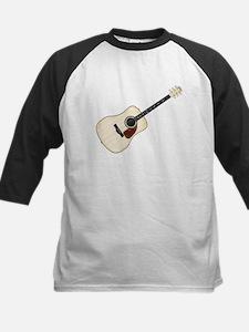 Pale Acoustic Guitar Baseball Jersey
