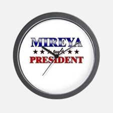 MIREYA for president Wall Clock