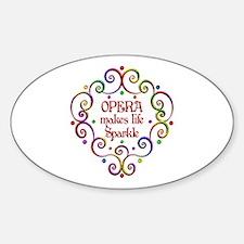 Opera Sparkles Sticker (Oval)