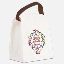 Opera Sparkles Canvas Lunch Bag