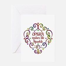 Opera Sparkles Greeting Card