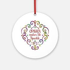 Opera Sparkles Round Ornament