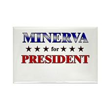 MINERVA for president Rectangle Magnet