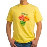 Physical therapist Mens Yellow T-shirts