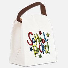 School Rocks! Canvas Lunch Bag