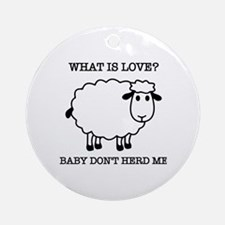 Funny Funny sheep Round Ornament