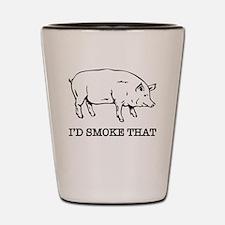 Funny Smoking Shot Glass