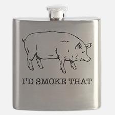 Cute Bbq smoking Flask