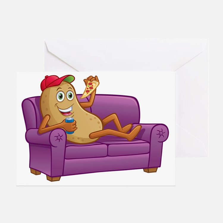 Cute Couch potato Greeting Card