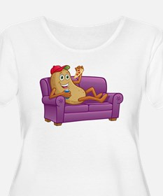 Couch Potato Relaxing Plus Size T-Shirt