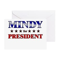 MINDY for president Greeting Card
