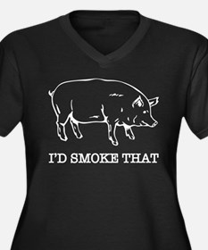 I'd Smoke That Funny Pig Plus Size T-Shirt