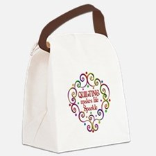 Quilting Sparkles Canvas Lunch Bag