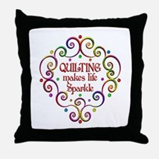 Quilting Sparkles Throw Pillow