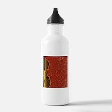 Grunge Violin Water Bottle