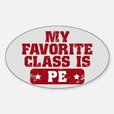 My Favorite Class is PE Stickers